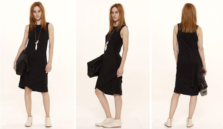 Dori Tomcsanyi layered black dress.  Available from September at the webshop. http://doritomcsanyi.com/