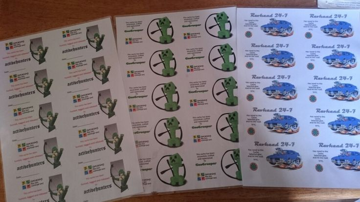 Geocaching calling cards