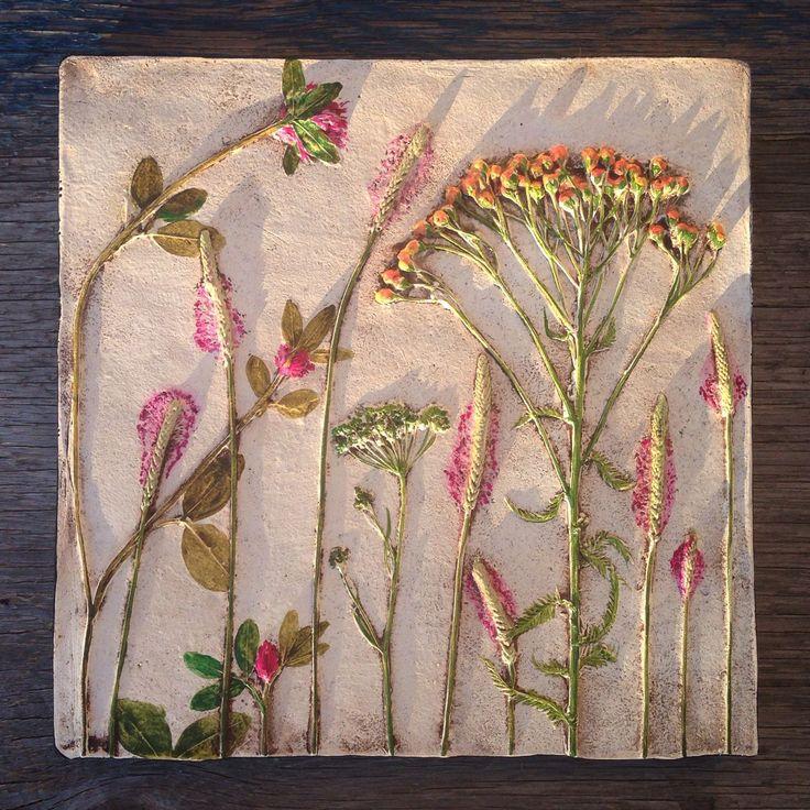 """Купить """"Подорожник цветет"""". Настенное панно. - картина для интерьера, картина и панно, полевые цветы, подорожник"""