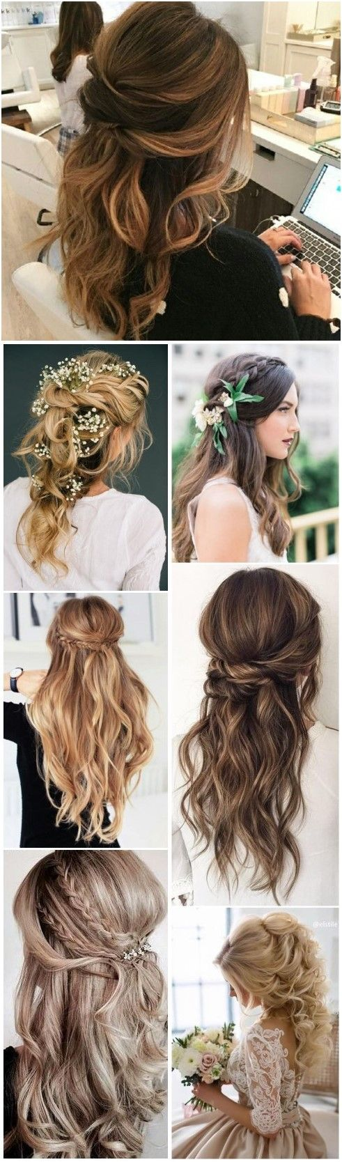 Yep, we're still loving the half-up, half-down look for your wedding day! Effortless, elegant and glamorous!