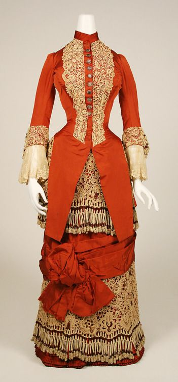 1880. Wow. This one is *gorgeous*. Not everyone would have been able to wear that russet color, though.