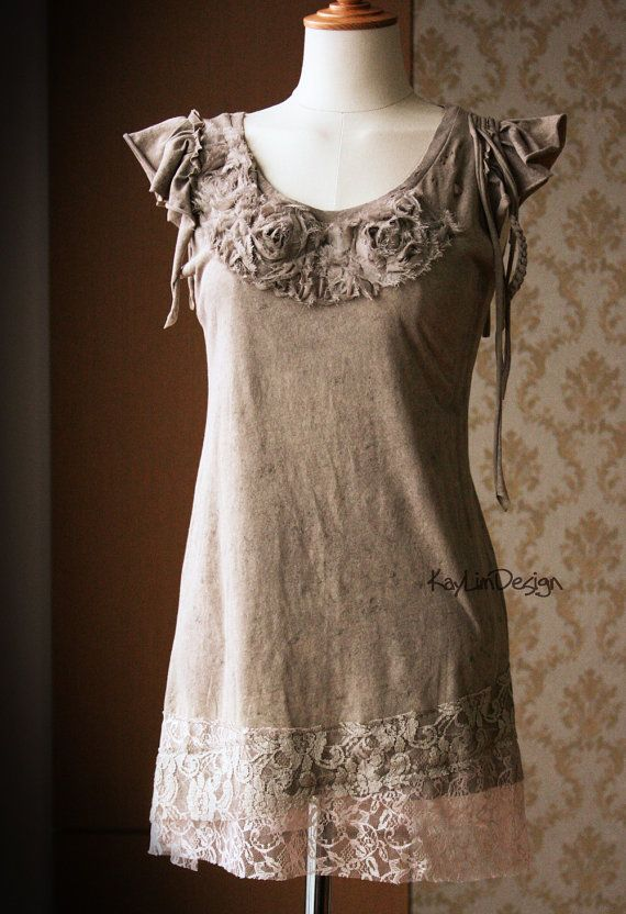 Tattered t-shirt / upcycled t-shirt / shredded tshirt- KT560