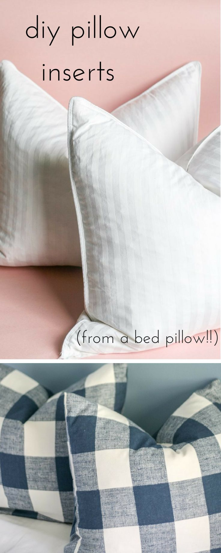 The right pillow insert can make all the difference with your pillow decor.  Find out how to easily make your own!  #diy #homedecorideas #pillows #decorate