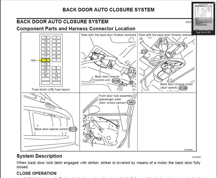 infiniti g37 fuse box diagram for fuel door