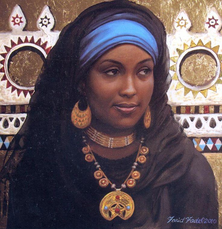 Beautiful Nubian Women | Nubian woman, a portrait by Farid Fadel