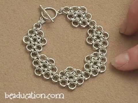 Learn the Japanese style of chain mail to create this fabulous bracelet. The pattern of this weave is simple, but this weave can be challenging if working wi...
