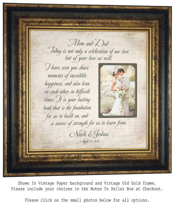Parents of the Bride Gift Mother of Bride by PhotoFrameOriginals