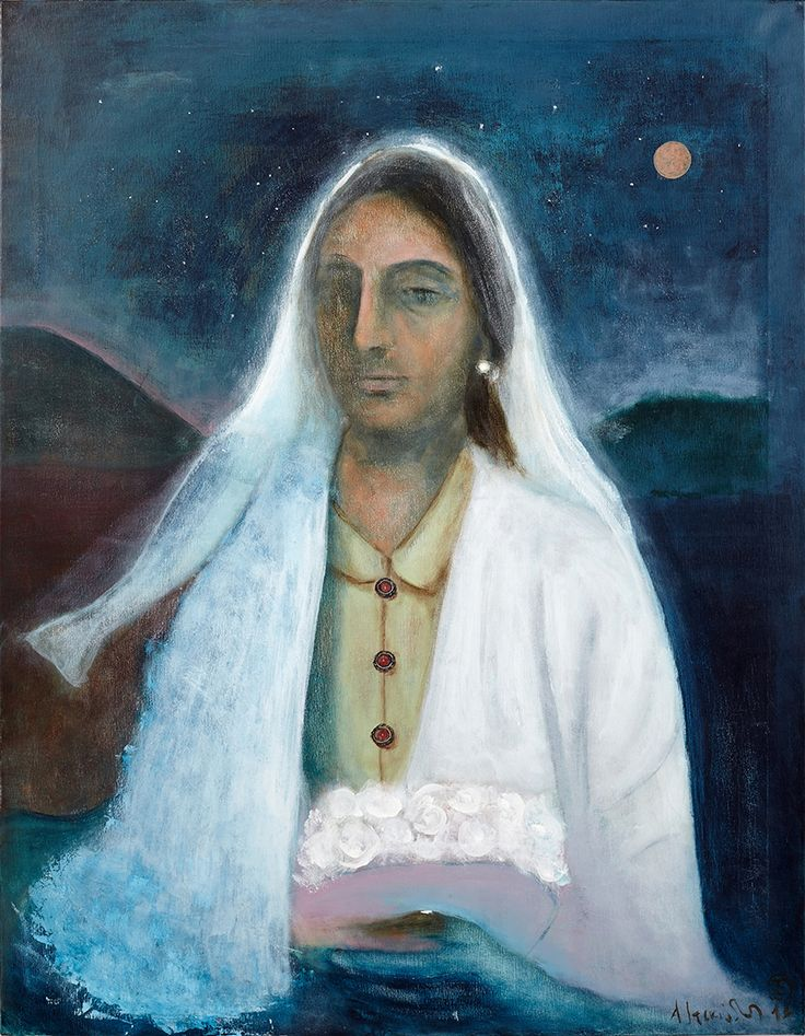 "Apostolis Itskoudis, ""Bride"" (Νύφη), acrylics on canvas, 70X90 cm, 2016."