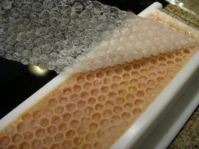 Soap Recipe with Beeswax and Honey. Also, how to make honeycomb