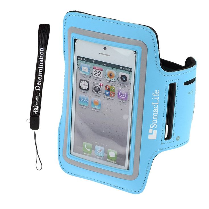SumacLife Sports Armband for Iphone 5 / Iphone 5S / Iphone 5C / Iphone 4S - Blue + eBigValue Determination Hand Strap. Compatible with iphone 5 / Iphone 5S / Iphone 5C / Iphone 4S and more smartphone. Neoprene Armband Case cover protects your smartphone without hassle. Built in a small pocket, you can put in the earphone cord, coins or keys etc. Adjustable Velcro lets you adjust your arm band for maximum comfort. eBigValue Determination Hand Strap for your Keys and other small stuff.