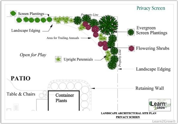 Plant Screening Ideas | ... Screen Design | Design by Function Garden Privacy Screen: Gardening
