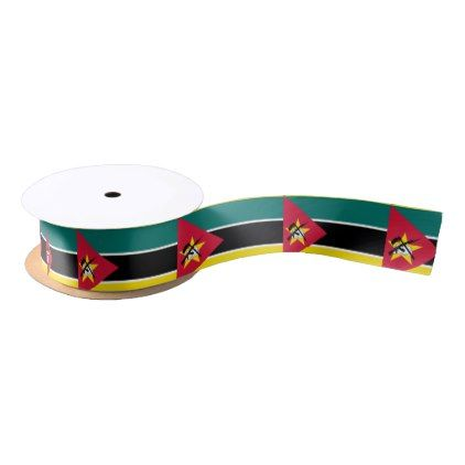Mozambique Flag Satin Ribbon - craft supplies diy custom design supply special