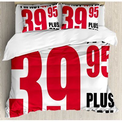Ambesonne 40th Birthday Decorations Funny Slogan Fortieth Birthday Humoruos Pictogram Style Duvet Set Size: