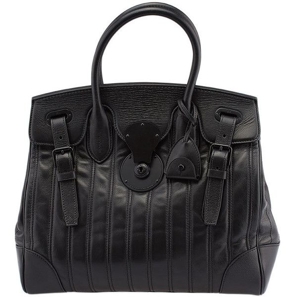 Pre-owned Ralph Lauren Soft Ricky Black Sequin Leather Satchel ($1,380) ❤ liked on Polyvore featuring bags, handbags, black, leather satchel, genuine leather purse, satchel purses, genuine leather handbags and sequin handbags