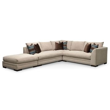 Mulholland Upholstery 4 Pc. Sectional (Reverse) - Value City Furniture $2,699.96