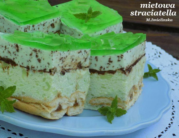 miętowa straciatella- ciasto bez pieczenia