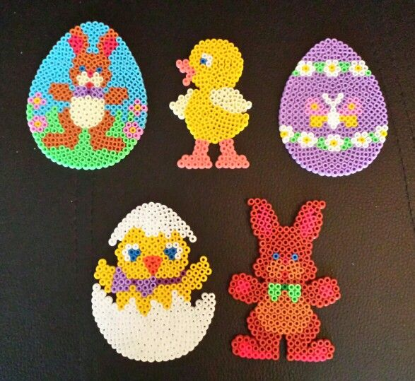 Easter decorations hama beads by Sylvana