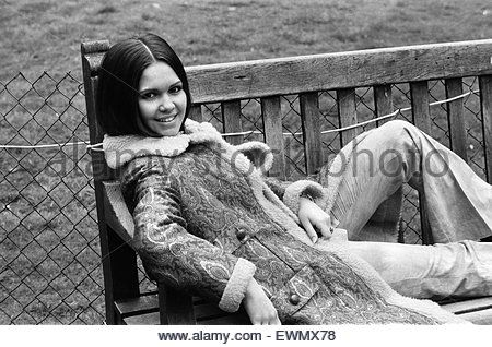 French singer Anne-Marie David, winner of the 1973 Eurovision Song Contest representing Luxembourg with the song - Stock Photo