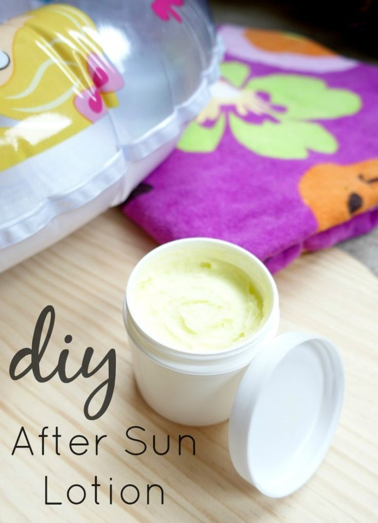 Skincare Tip: After a long day outside, slather on this rich after-sun lotion to soothe and hydrate skin. This easy skincare DIY recipe uses natural ingredients and is perfect for the whole family!