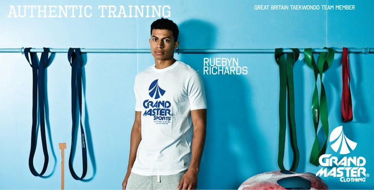 Ruebyn Richards GB Taekwondo squad member wearing grandmaster clothing