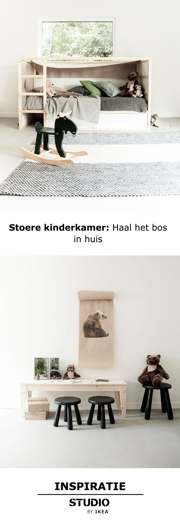 Inspiratie - Stoere kinderkamer: Haal het bos in huis | IKEA IKEANederland kinderkamer speelkamer babykamer kinderen hout Scandinavisch