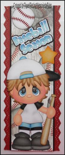 Premade Baseball Season Boy Border Paper Piecing for Scrapbook Pages by Babs | eBay