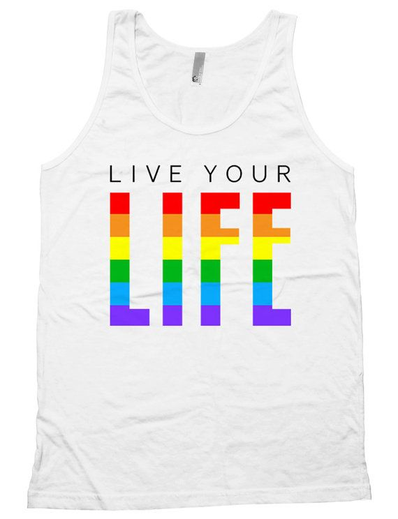 Gay Pride Outfits LGBT Pride Shirts Equality Gifts Rainbow Tank Gay T Shirts Live Your Life American