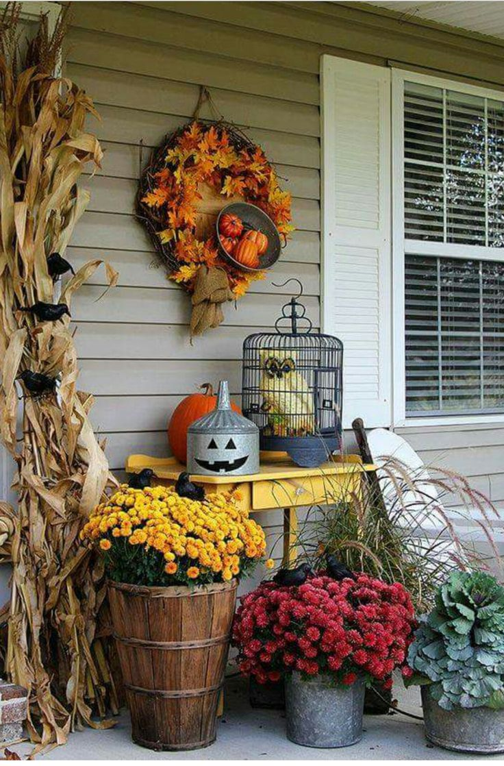 87 best Fall Decorating images on Pinterest Fall home, Fall - Halloween House Decorating Ideas Outside