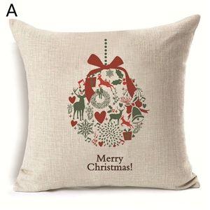 (EU Lager)Weihnachten Kissenbezüge Weihnachtsdeko Design