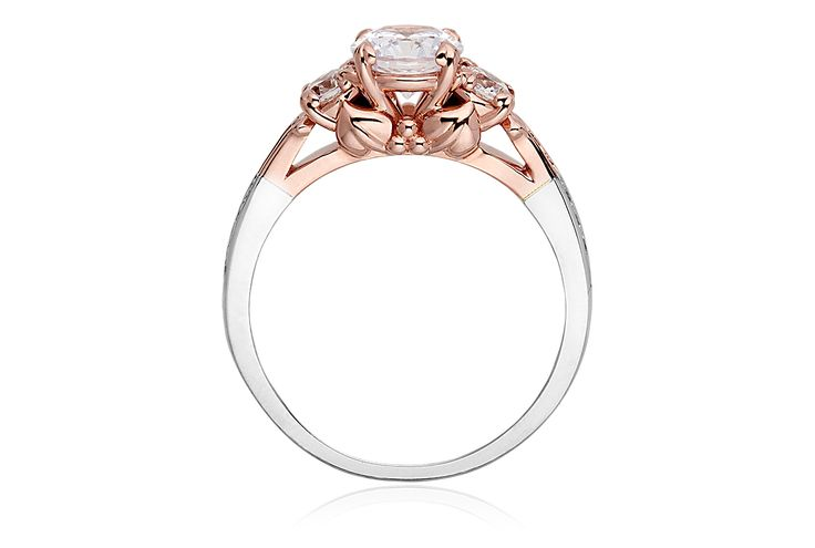 Tree of Life Engagement Ring, total 1.57ct diamond, platinum and rose gold with a touch of rare welsh gold