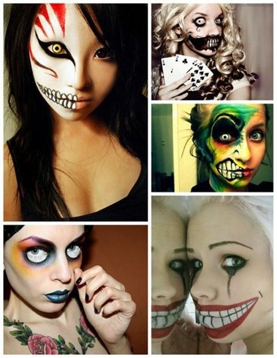 Scary Halloween makeup… If only I could manage this!