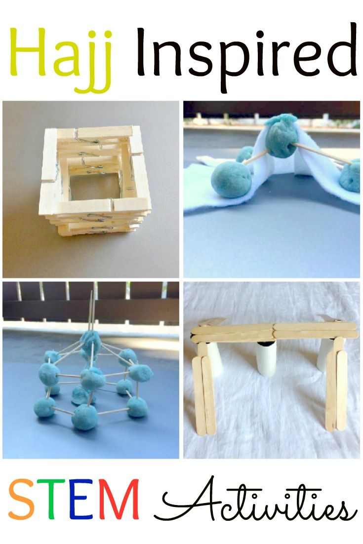 hajj inspired stem activities, hajj crafts, hajj, hajj for kids, STEM, Muslim kids, kaaba, Mina, Mount Arafah, Hajj for kids