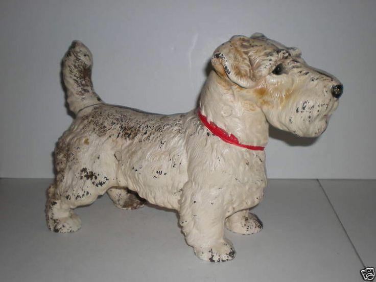 Antique Vtg Old Lg Hubley Cast Iron Metal Doorstop Sealyham Dog Statue Door  Stop - 32 Best Dogs-Vintage Hubley Images On Pinterest Irons, Figurines