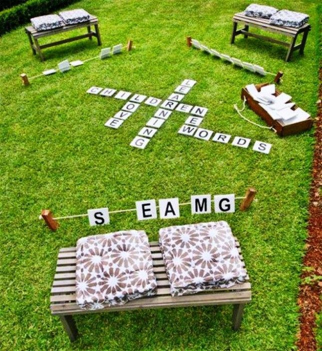 Here's another idea for an outdoor Scrabble game.
