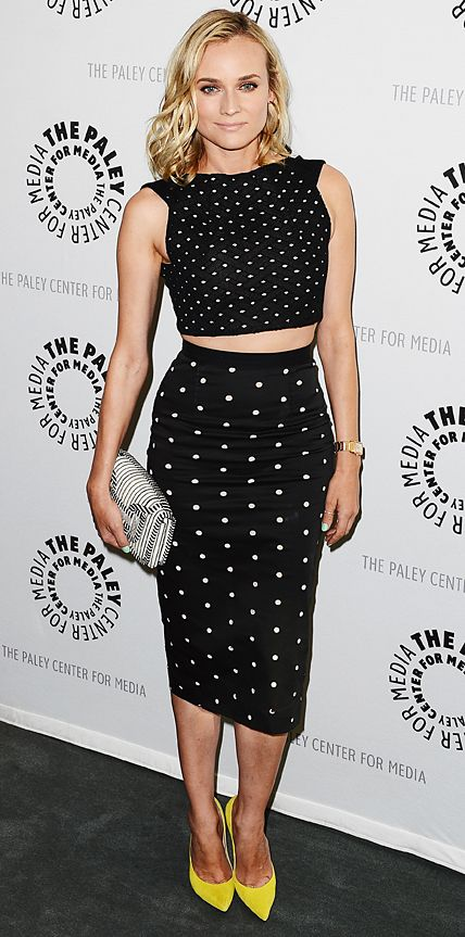 Look of the Day - June 25, 2014 - Diane Kruger in Roland Mouret from #InStyle