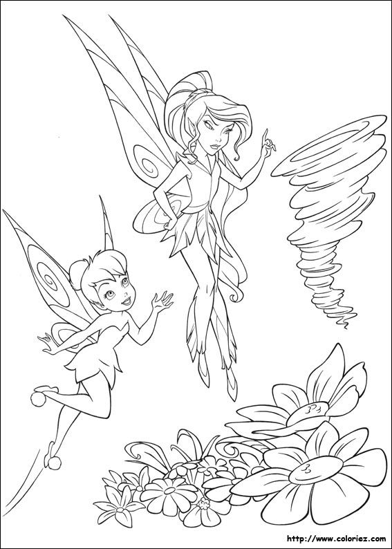 Tinkerbell And Vidia Coloring Pages Inkleur Prente