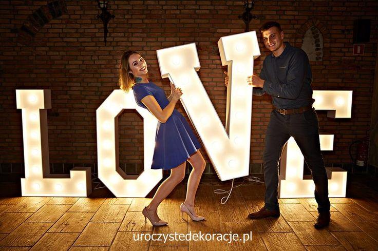 duże litery love na ślub i sesję zdjęciową