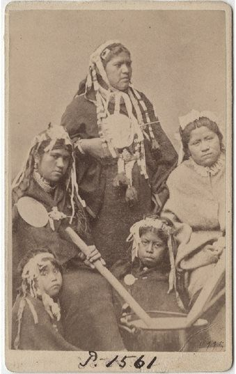 Mujeres mapuches.