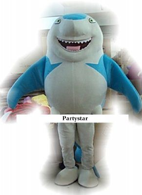Haai mascotte kostuum