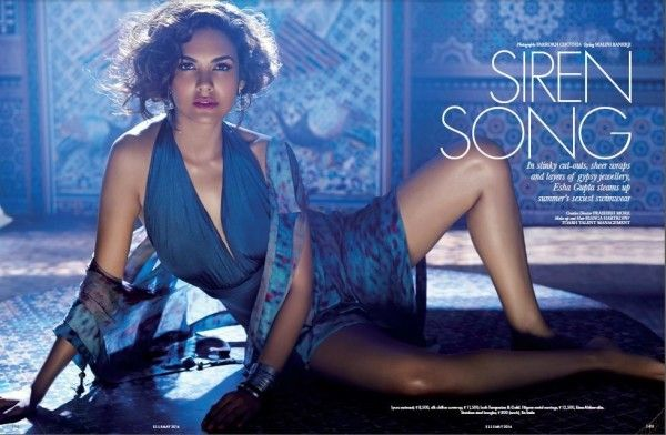 Esha Gupta on the Cover of Elle Magazine in Mumbai