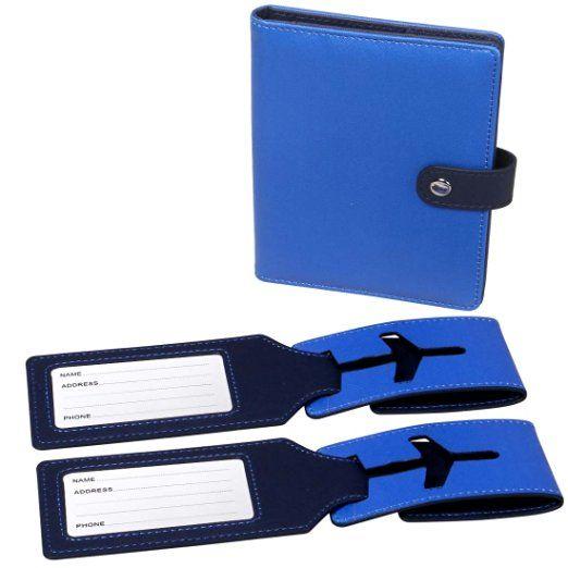 RoryTory RFID Protection Passeport Etui Et 2 Assortis étiquette de bagage…
