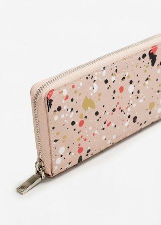 Gemusterte brieftasche -  Damen | MANGO Deutschland