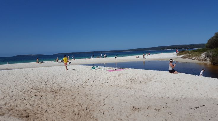 Hyams Beach at Cape Jervis which is actually a Federal Territory and not NSW. It is south of Nowra which is south of Wollongong.