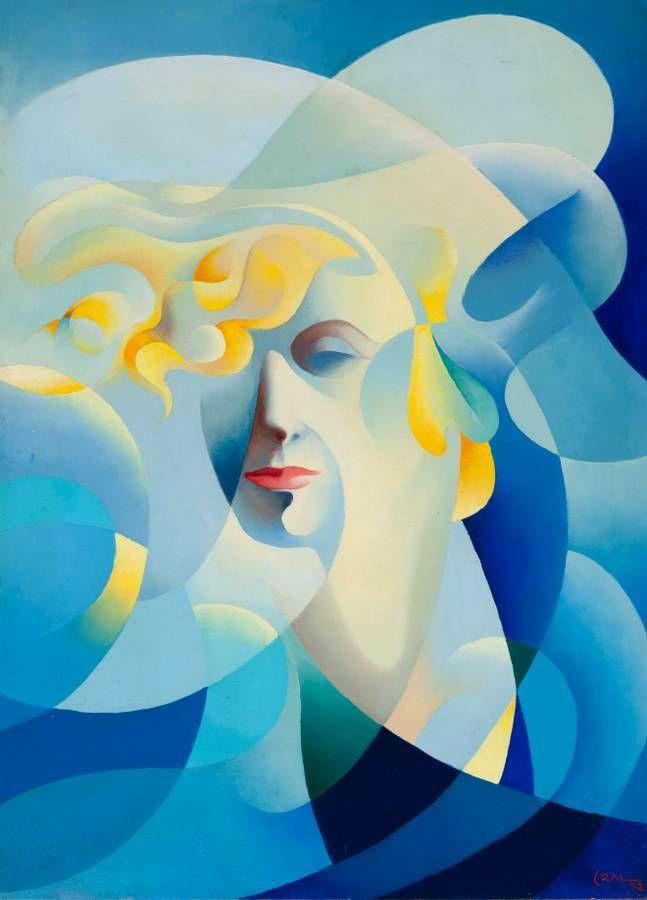 Tullio Crali (Italian, 1910 - 2000), Ballelica, Ritratto di Elica Balla, 1932, oil on plywood, 70 x 50 cm.