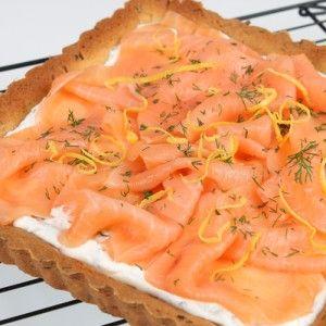 Savory cake with Salmon