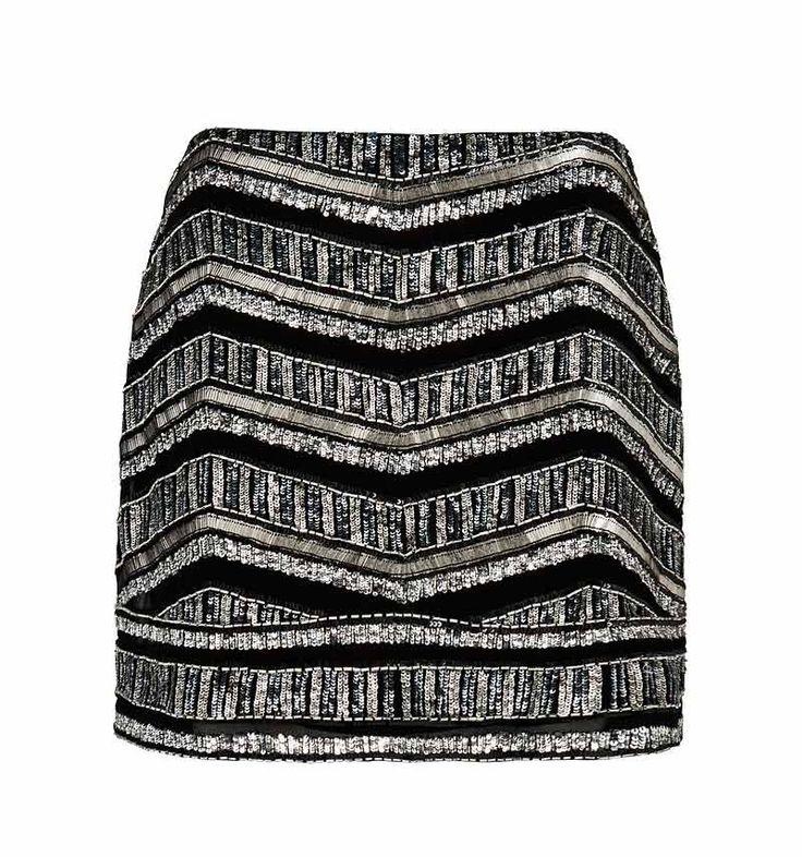 Morgan geo embellished skirt - Forever New