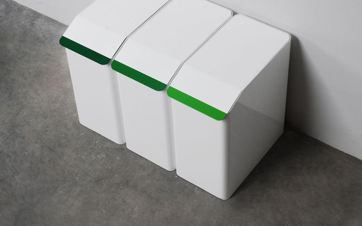A set of storage containers that promotes domestic waste recycling. The powder coated aluminium boxes feature a flush lid with coloured handles for varying materials such as paper, glass, metal and…