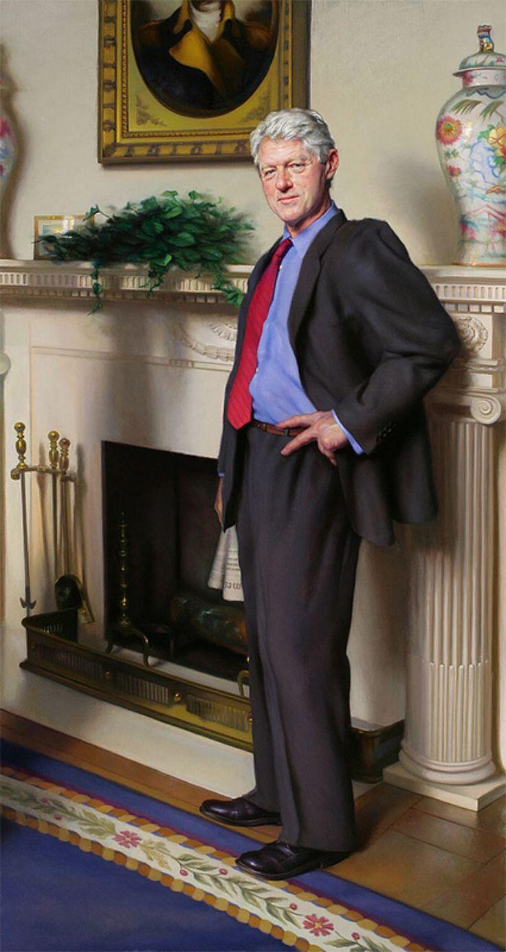 Nelson Shanks [...] lâche une petite bombe : dans le tableau officiel de Bill Clinton, affiché de temps à autre parmi 55 autres le représentant dans la National Portrait Gallery, il a fait apparaître une ombre représentant la robe de Monica Lewinsky.