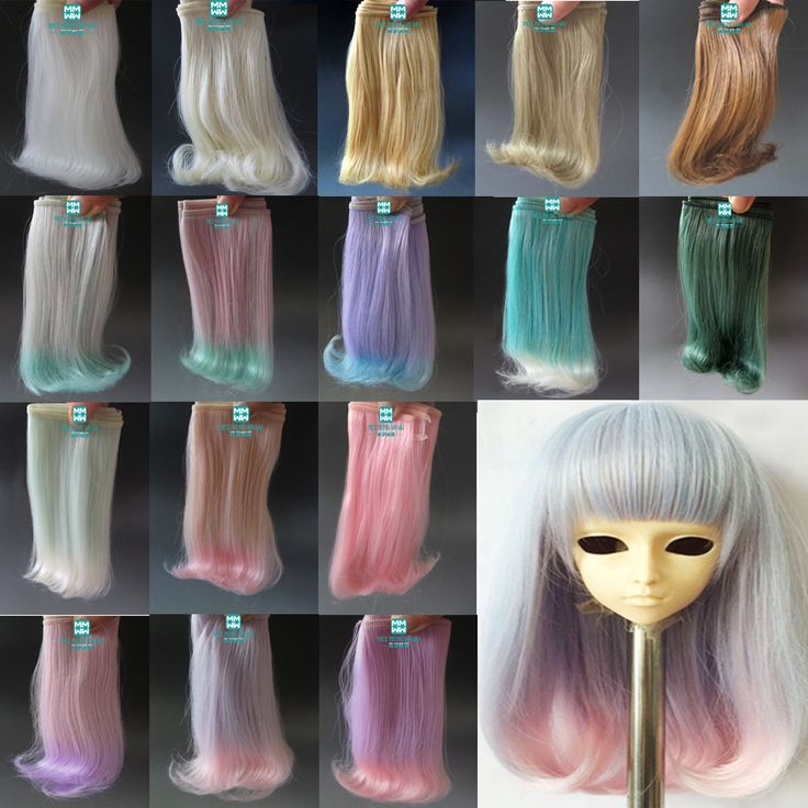 <b>1pcs</b> 15cm&25cm*<b>100cm</b> Doll <b>Wigs</b> BJD/SD doll <b>hair</b> DIY High ...