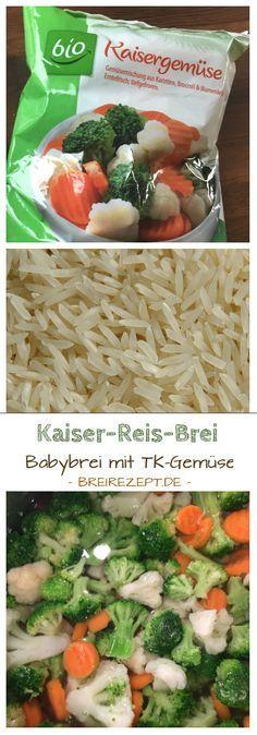 Tiefkühlgemüse eignet sich wunderbar zum Kochen von Babybrei und erweitert besonders im Winter den Speiseplan um einiges. Mit Kaisergemüse, das aus Brokkoli, Möhren und Blumenkohl besteht, und Reis könnt ihr einen leckeren Babybrei für euer Baby ab dem 7. Monat selber kochen. Hier geht es zum Rezept: http://www.breirezept.de/rezept_schneller_kaiser-reis-brei.html